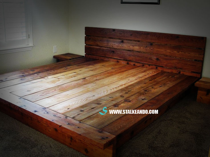 Como fabricar camas de madera pictures to pin on pinterest for Como reciclar una cama de madera