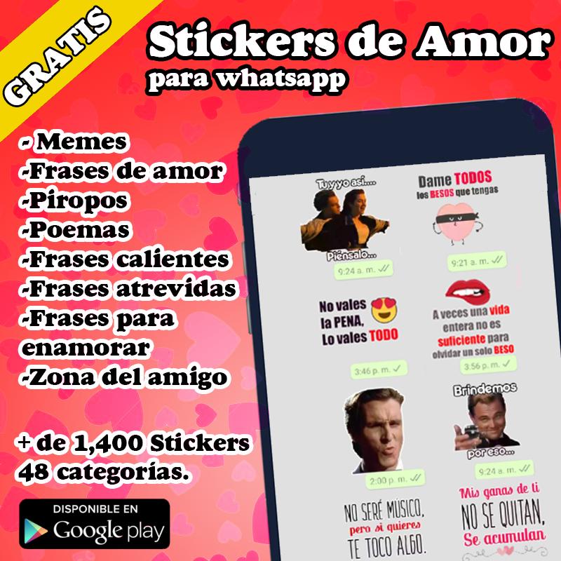 ❤️ Stickers de amor ❤️ para whatsapp WA con memes y pirotos WAStickerApps