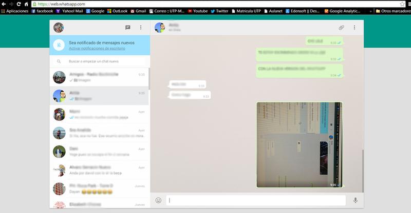 Como utilizar la versión Web de Whatsapp